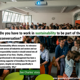 Meet Charles: Do you have to work in sustainability to be part of the conversation?