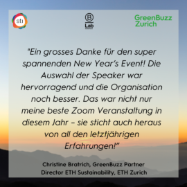 The New Year has started and so have our GreenBuzz events!